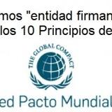"""La Red  Española del Pacto Mundial de la ONU confirma que CECAP es """"entidad firmante"""" desde el 31 de Julio de 2013"""