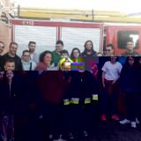 Participantes en el Proyecto de Vida Autónoma con Apoyo conocen gracias a los bomberos cómo actuar ante situaciones de emergencia