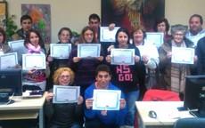Con la entrega de diplomas a los participantes finaliza el Curso de Ofimática organizado por  CECAP Los Yébenes y el Ayuntamiento de la localidad