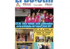 """La participación de CECAP, única entidad social colaboradora en el Programa de Fiestas del Corpus Christi 2017, noticia destacada de nuestro newsletter mensual """"El Boletín"""""""