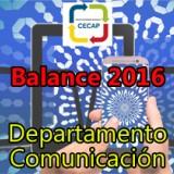 El Departamento de Comunicación de CECAP consiguió durante el 2016 una consolidación en la cantidad y calidad de contenidos y un aumento en visitas y seguidores