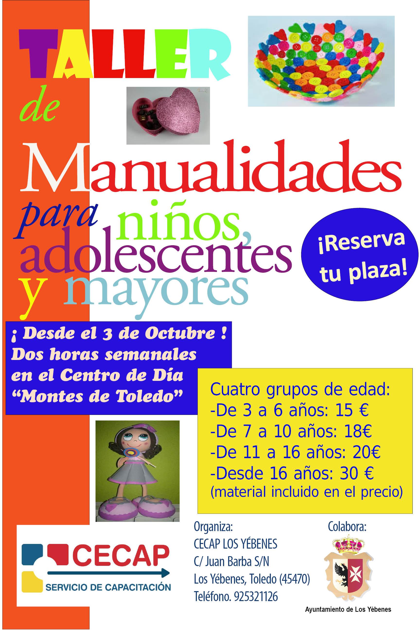 Talleres de manualidades manualidades para jovenes adultos - Talleres manualidades para adultos ...